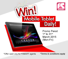 FSMart Agent Mega Promo – Win Daily Tablet!
